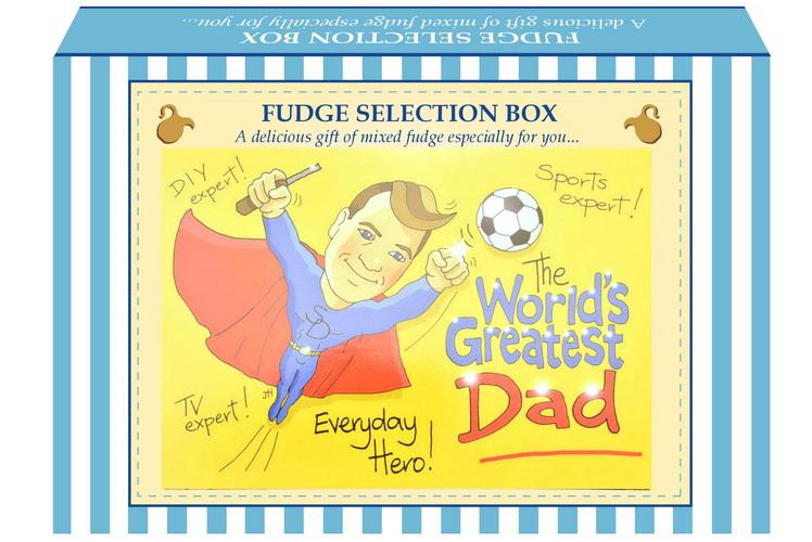 """200g Mixed Fudge """"Dad"""" Postcard Gift Box"""