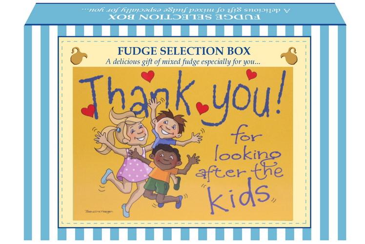 "200g Mixed Fudge ""Kids"" Postcard Gift Box"