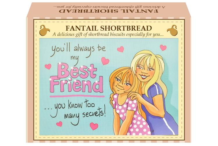"125g Fantail Shortbread ""Best Friend"" Postcard"