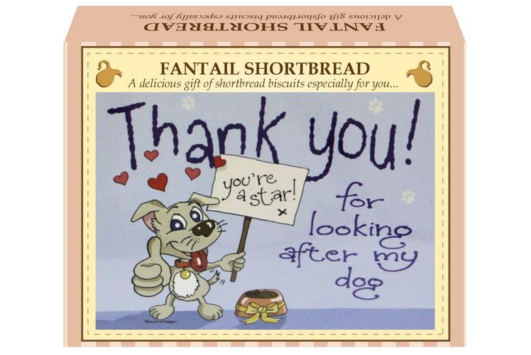 "125g Fantail Shortbread ""Dog"" Postcard Gift Box"