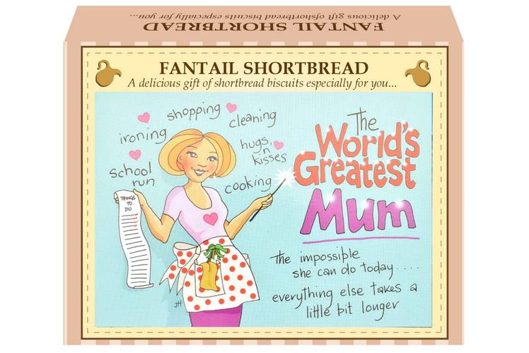 "125g Fantail Shortbread  ""Mum"" Postcard Gift Box"