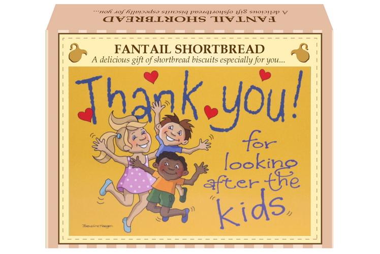 "125g Fantail Shortbread & ""Kids"" Postcard Gift Box"