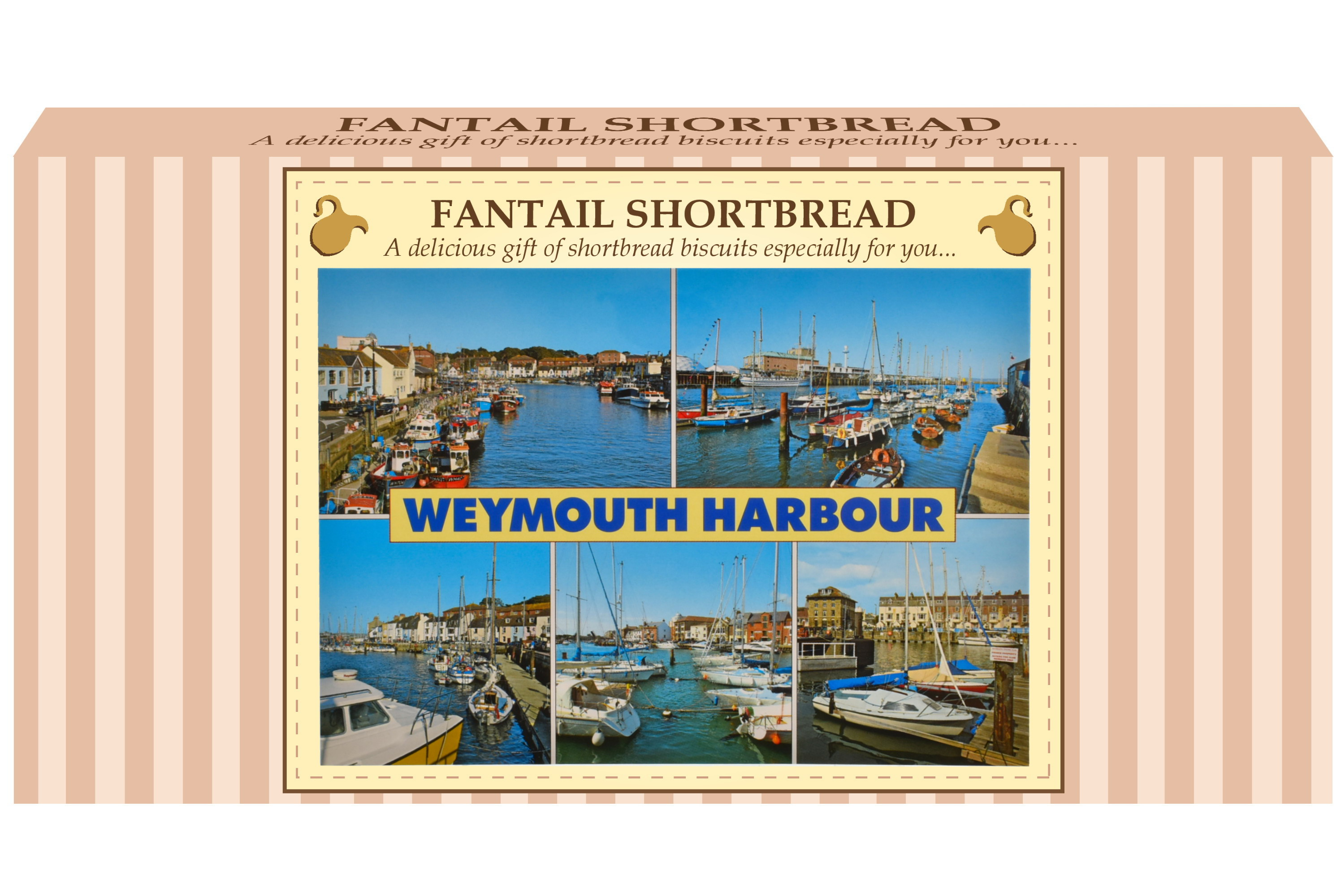 250g Fantail Shortbread & Postcard Gift Box