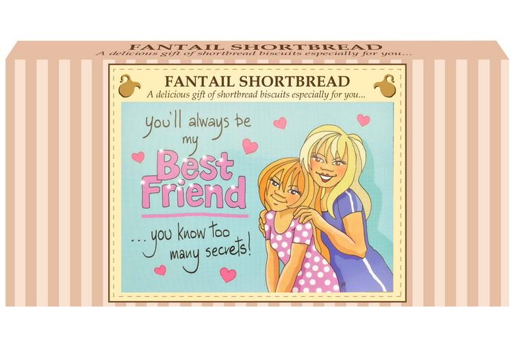 "250g Fantail S/Bread ""Best Friend"" Postcard Gift Box"