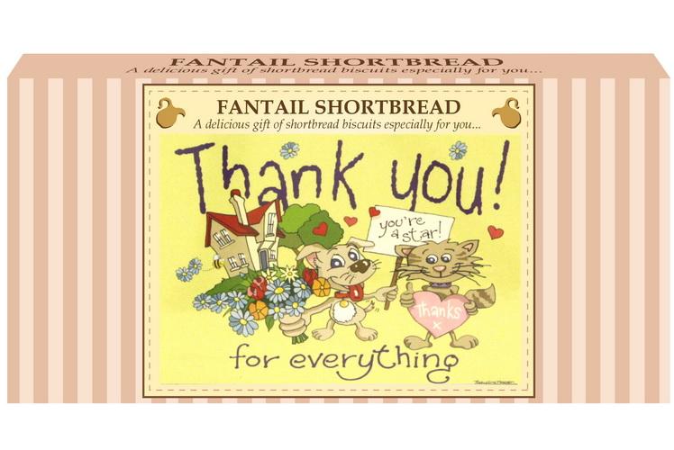 "250g Fantail S/Bread & ""Thank You"" Postcard Gift Box"