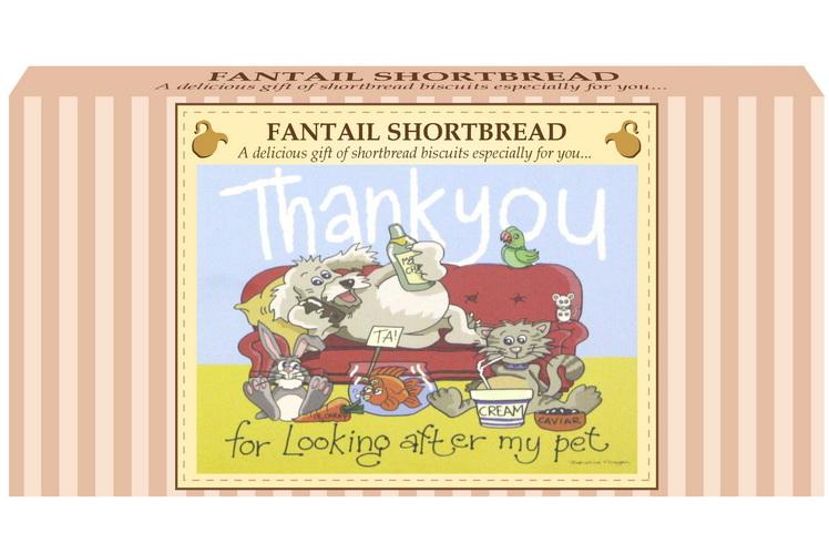 "250g Fantail S/Bread & ""Pet"" Postcard Gift Box"