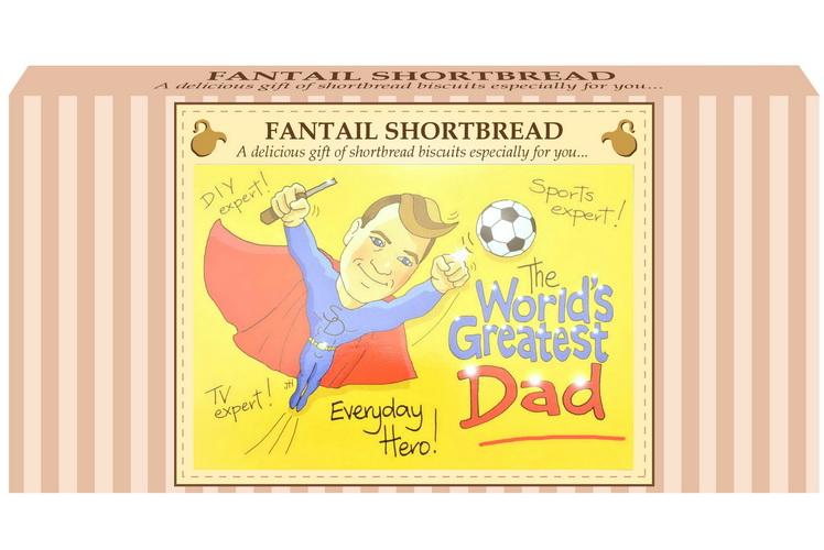 "250g Fantail Shortbread & ""Dad"" Postcard Gift Box"