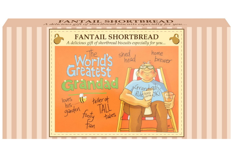 "250g Fantail Shortbread & ""Greatest Grandad"" Postcard"