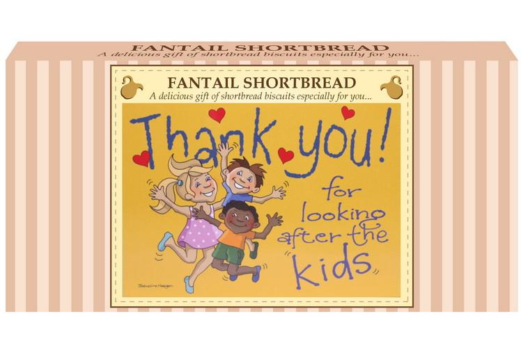 "250g Fantail Shortbread ""Kids"" Postcard Gift Box"