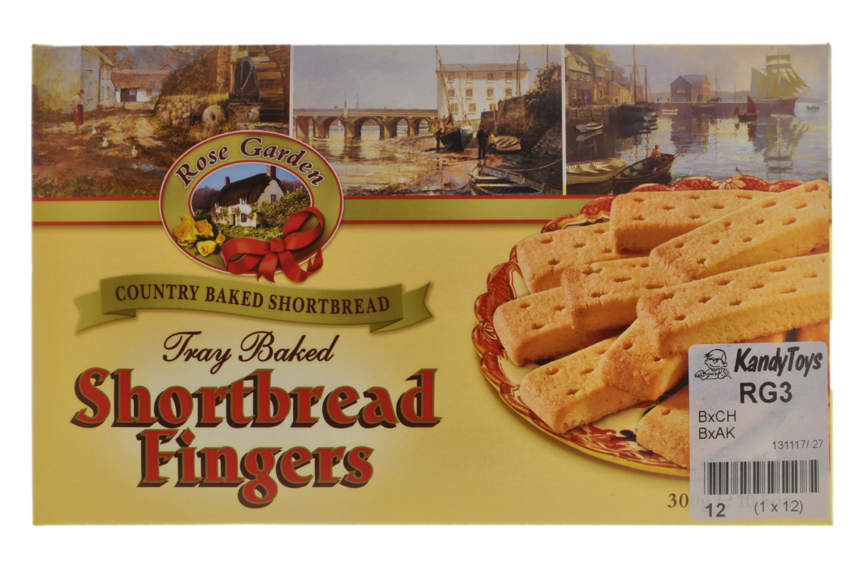 300g Clotted Cream Shortbread Fingers (Rose Garden)