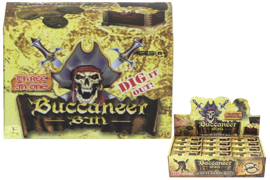 Buccaneer Pirate Dig Out Set In Display Box