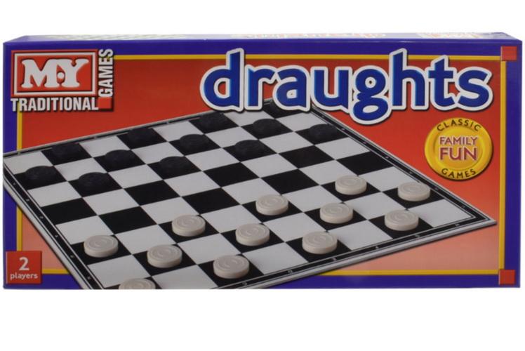 "Draughts Game In Printed Box ""M.Y"""