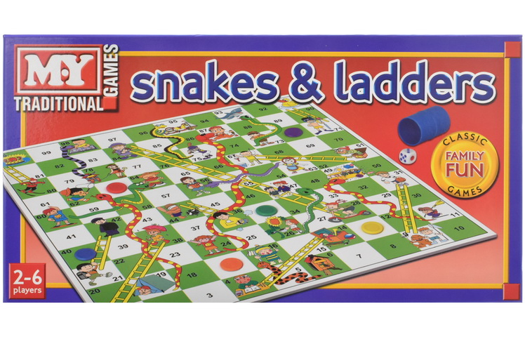 """Snakes & Ladders Game In Printed Box """"M.Y"""""""