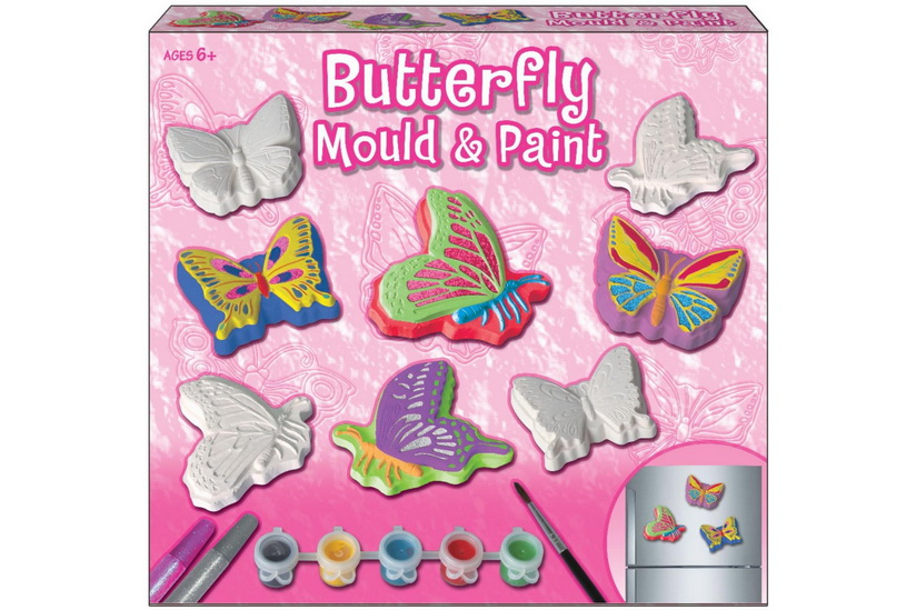 Butterfly Mould And Paint Set In Colour Box