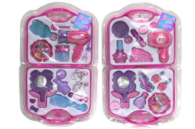 "Girls Vanity Case In Clamshell - ""Its Girl Stuff"""