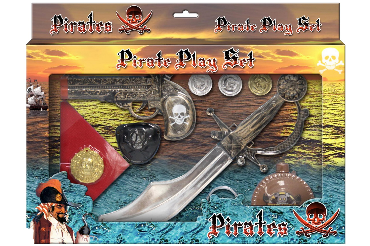 Pirate Playset (2 Assorted) In Window Box