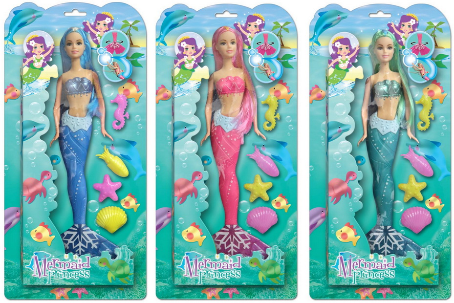 "Mermaid Doll (3 Assorted) ""Mermaid Princess"""