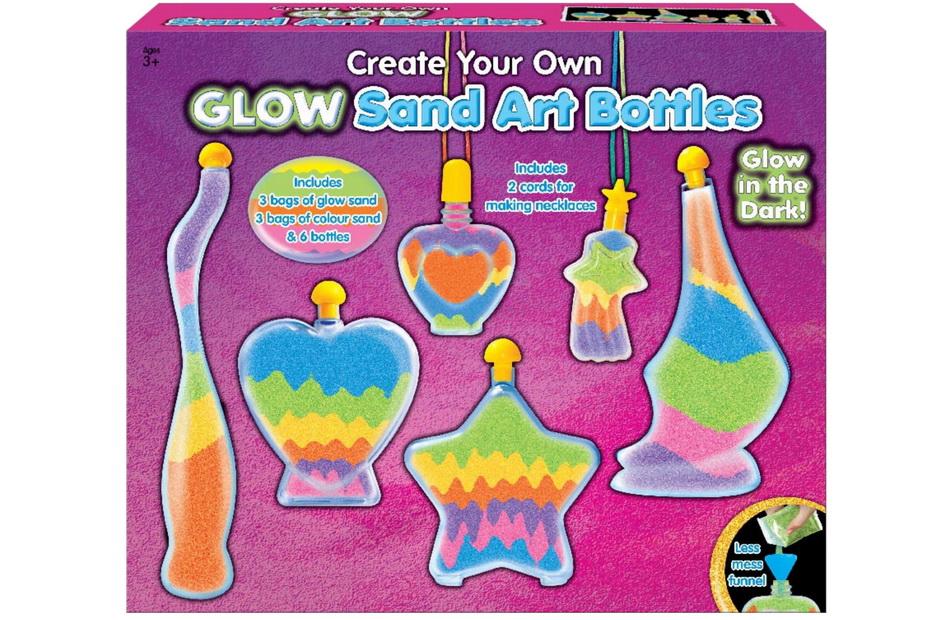 Sand & Bottle Art Set - Glow In The Dark In Colour Box