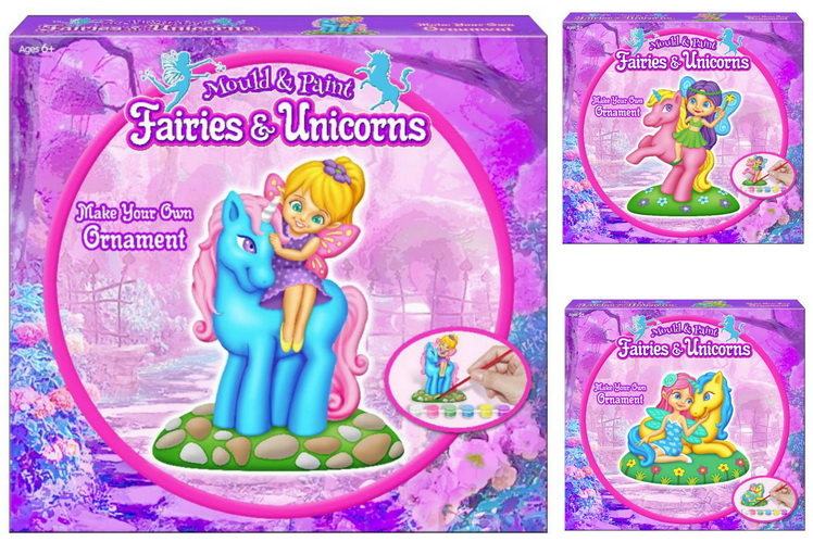Make Your Own Fairy Ornament (3 Asst) In Colour Box