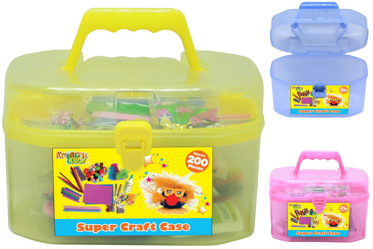 Craft Carry Case Set (3 Assorted Colours)