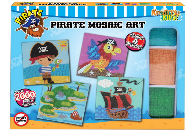 Pirate Mosaic Art Sticker Set In Colour Box