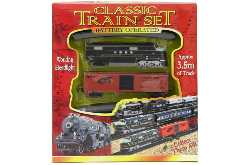 B/O Train Set - Light Up (3 Asst) - W/Box (29cm x 33cm)