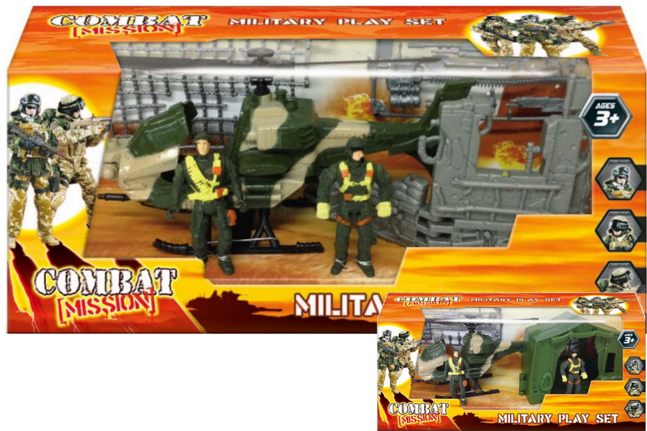 "Military Playset In Window Box 2 Asst ""Combat Mission"""