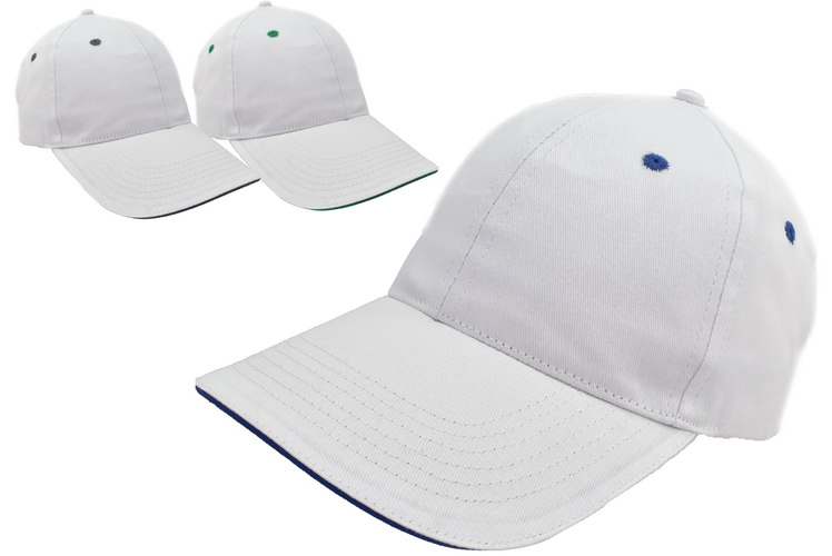 58cm White Baseball Cap 3 Assorted Colours