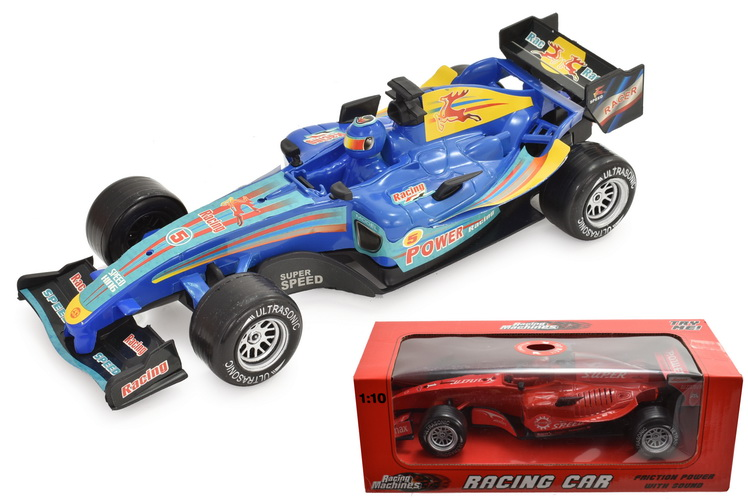 "1:10sc Plastic Racing Car With Sound ""Try Me"" In Wbx"