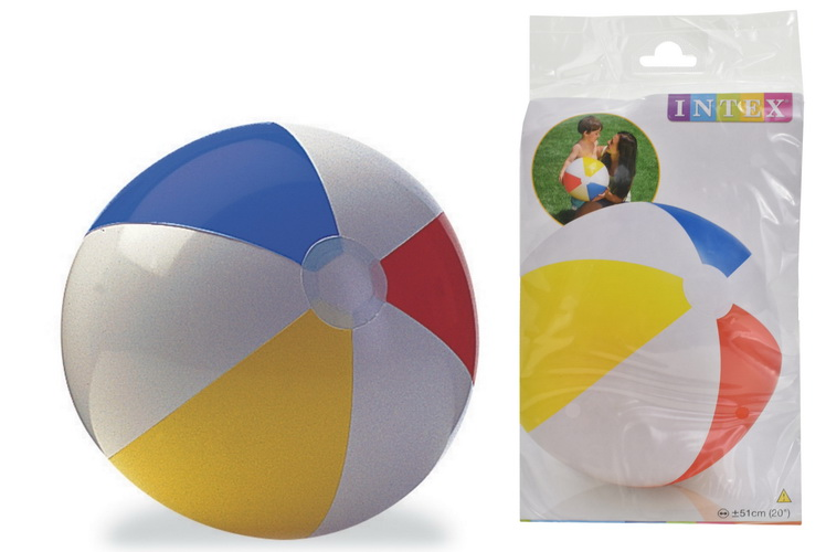"""20"""" Glossy Panel Beach Ball In Polybag"""