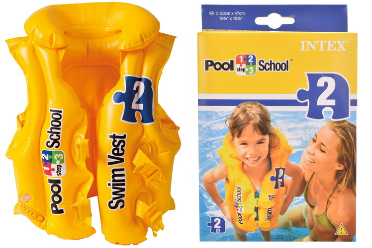 Pool School Deluxe Swim Vest (Ages 3-6 Yrs) In Peg Box