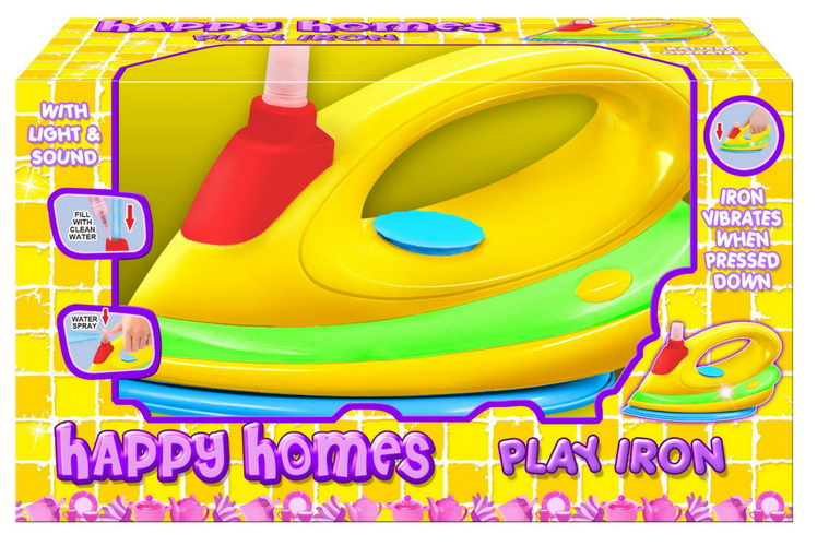 """B/O Large Play Iron With Light & Sound """"Happy Homes"""""""