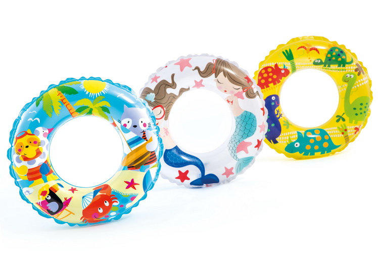 """24"""" Transparent Printed Ring Ages 6-10 Yrs (3 Asst)"""