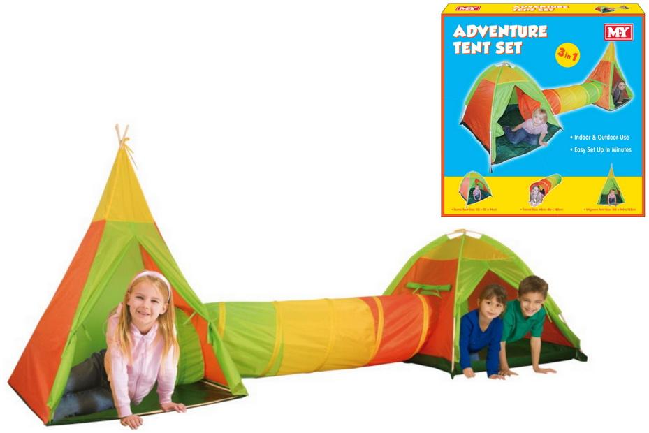 "3pc Adventure Tent Set In Colour Box ""M.Y"""