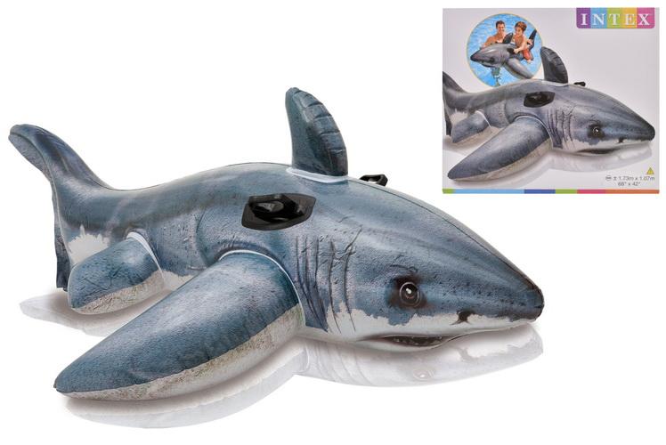 "Great White Shark Ride 68"" x 42"" In Shelf Box"