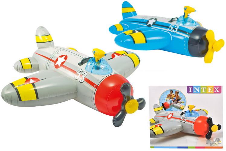 "Water Gun Plane Ride On 52"" x 51"" (2 Asst) In Shelf Box"