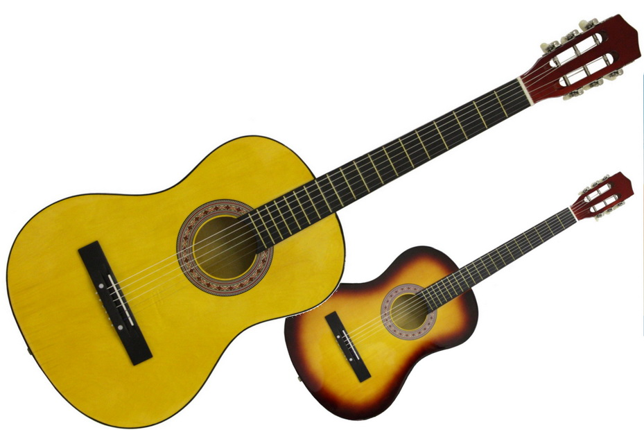 "38"" Acoustic Guitar With Metal Strings"