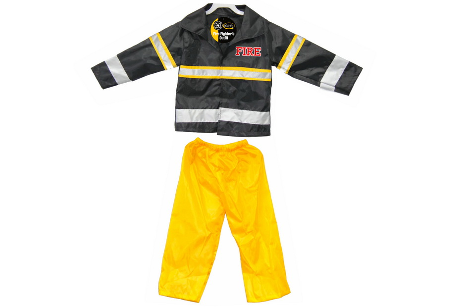 Childs Dress Up Fire Outfit (Ages 3-5/5-7) Vat Free