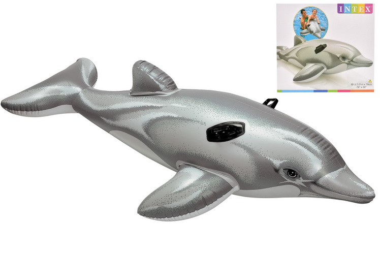"""Dolphin Ride-On - 79"""" x 30""""  (Np) In Shelf Box"""