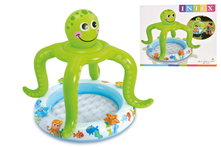 """Smiling Octopus Shade Baby Pool 40"""" x 41"""""""