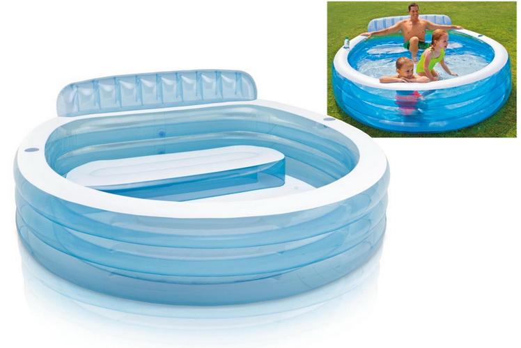 "Swim Centre Family Lounge Pool 88""X85x30"