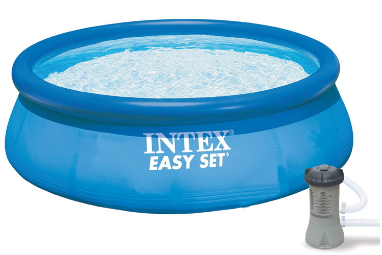 """10' x 30"""" Easy Set Pool With Filter Pump In Shelf Box"""