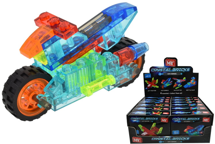 Crystal Bricks Playsets (4 Assorted) In Colour Box
