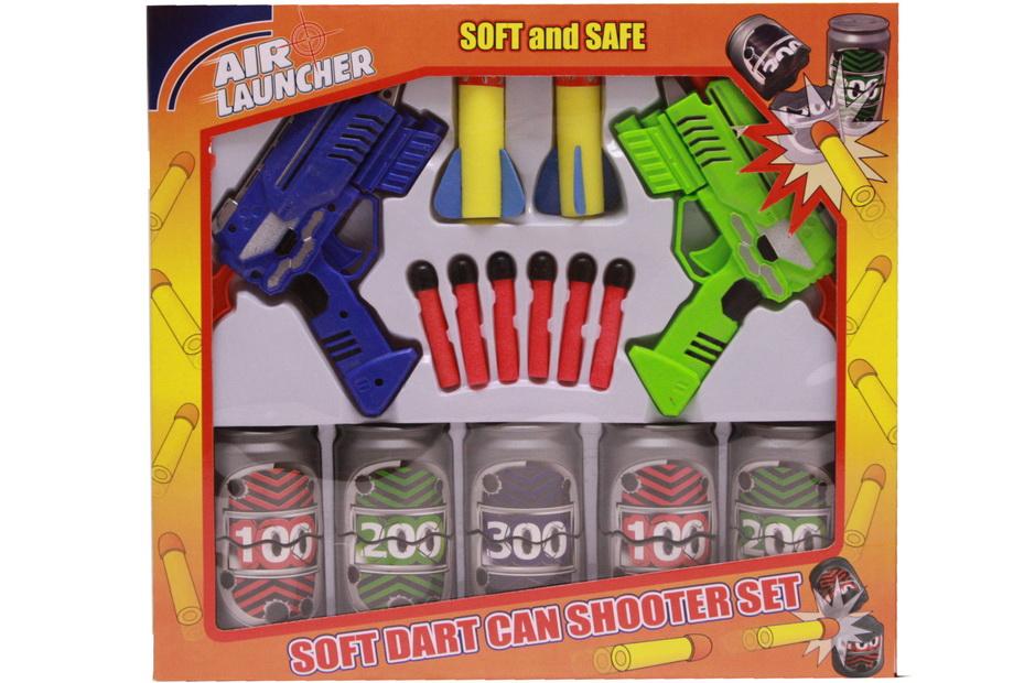 "Twin Dart Gun Can-Buster Game In Winbox ""Air Launcher"""