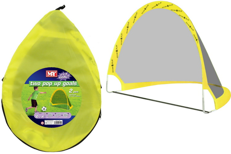 "Pop Up Soccer Goal Set In Zip Bag ""M.Y"""