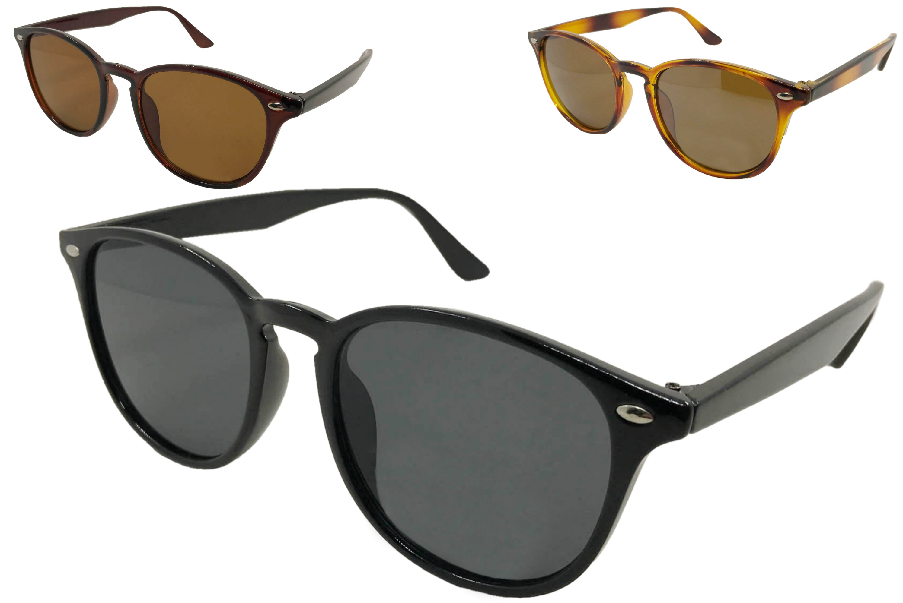 Adults Plastic Designers Sunglasses (3 Assorted)