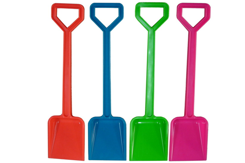 "Plastic Spade - 18""/80g - Assorted Neon Colours"