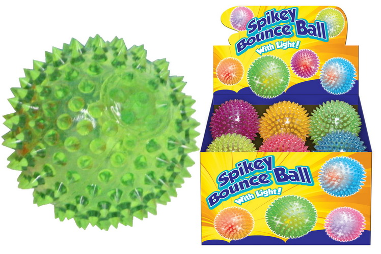 Spikey Bounce Ball With Light (95mm) In Dbx
