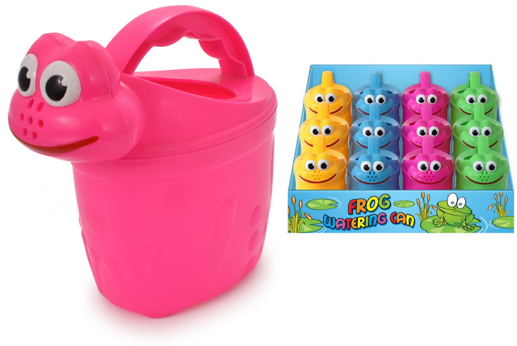 Frog Watering Can In Pdq - 4 Assorted Colours