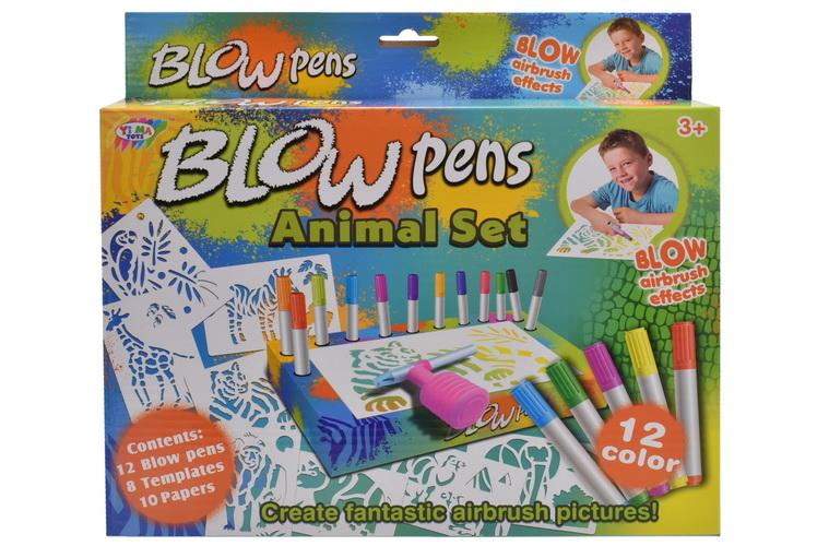 Animal Blow Pens Playset In Hanging Box